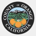 Sello del Condado de Orange Etiquetas Redondas