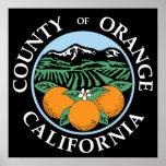 Sello del Condado de Orange Posters