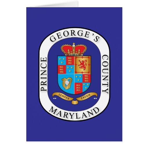 Sello del condado de Prince George's Tarjeta De Felicitación