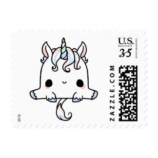 Sello del correo del unicornio