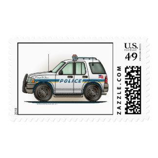Sello del crucero del coche de SUV de la policía