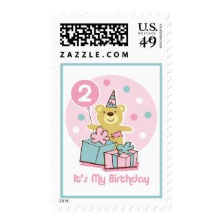 Sello del cumpleaños del oso de peluche 2do