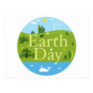 Sello del Día de la Tierra Postales
