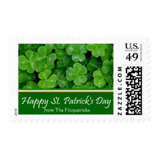 Sello del día del St. Patricks con apellido