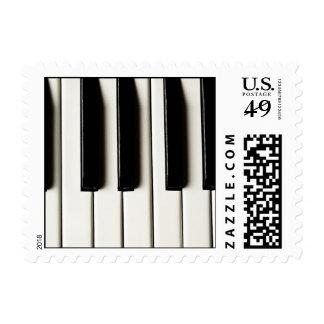 Sello del diseño de las llaves del piano