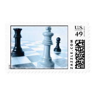 Sello del diseño del ajedrez
