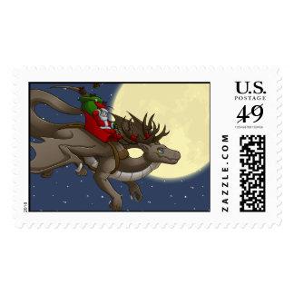 Sello del dragón del navidad