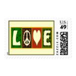 Sello del edredón del amor de la paz