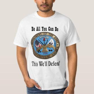 sello del ejército camisas