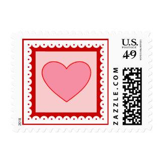 Sello del el día de San Valentín del corazón