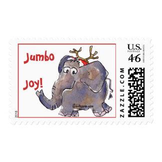 Sello del elefante del dibujo animado
