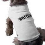 Sello del escritor camisa de perrito
