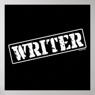 Sello del escritor impresiones