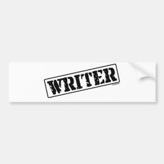 Sello del escritor pegatina para auto