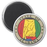 Sello del estado de Alabama Imán Redondo 5 Cm