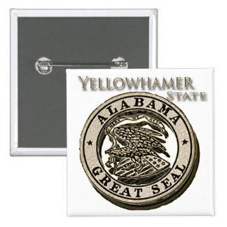 Sello del estado de Alabama Yellowhammer Pins