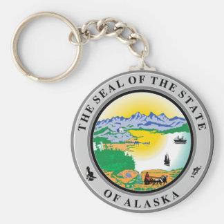 Sello del estado de Alaska Llavero Redondo Tipo Pin