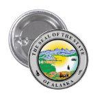 Sello del estado de Alaska Pin Redondo 2,5 Cm