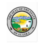 Sello del estado de Alaska Postal