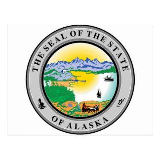 Sello del estado de Alaska Postales