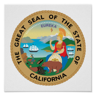Sello del estado de California Póster