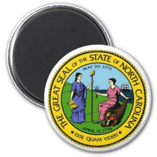 Sello del estado de Carolina del Norte Imán Redondo 5 Cm
