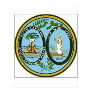 Sello del estado de Carolina del Sur Postal