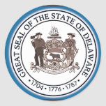 Sello del estado de Delaware Pegatinas