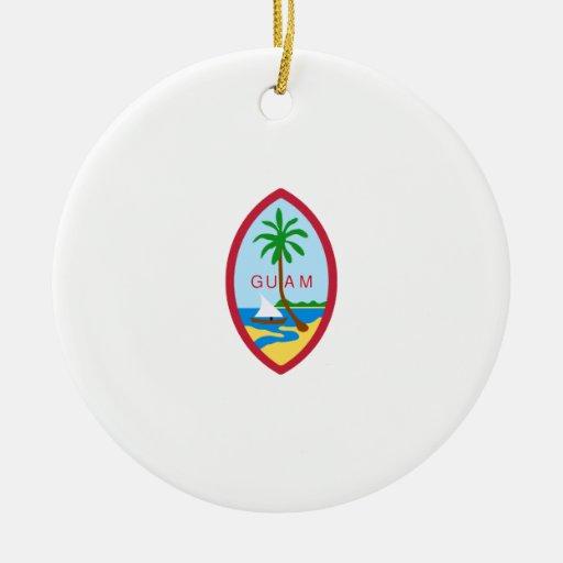 Sello del estado de Guam Ornamento Para Reyes Magos