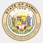 Sello del estado de Hawaii Pegatinas Redondas