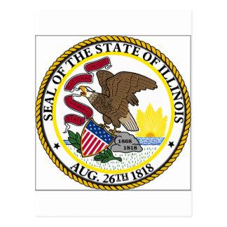 Sello del estado de Illinois Tarjeta Postal