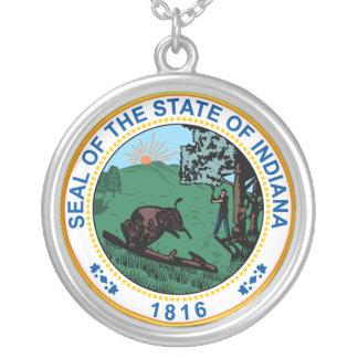Sello del estado de Indiana Colgante Redondo