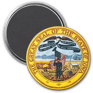 Sello del estado de Iowa Imán Redondo 7 Cm