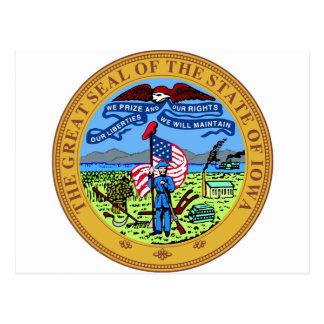 Sello del estado de Iowa Tarjetas Postales