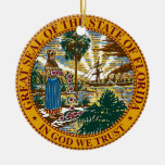 Sello del estado de la Florida Ornamento De Navidad
