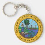 Sello del estado de la Florida Llavero Personalizado