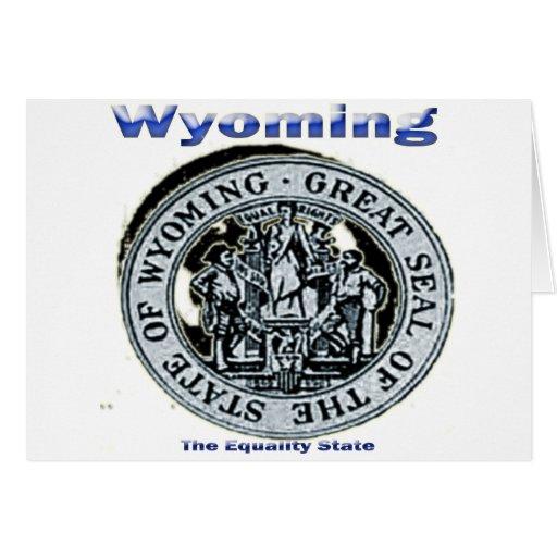 Sello del estado de la igualdad de Wyoming Tarjeton