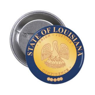 Sello del estado de Luisiana Pin Redondo De 2 Pulgadas