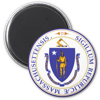 Sello del estado de Massachusetts Imán Redondo 5 Cm