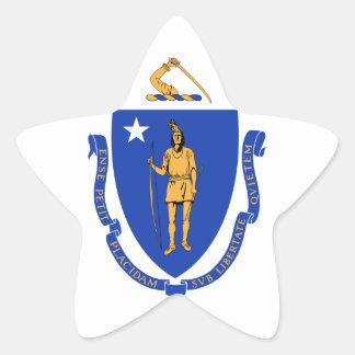 Sello del estado de Massachusetts Pegatina En Forma De Estrella