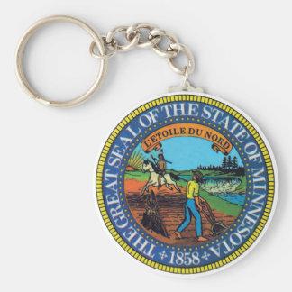 Sello del estado de Minnesota Llavero Redondo Tipo Pin
