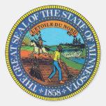 Sello del estado de Minnesota Pegatina Redonda