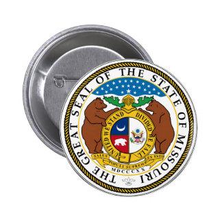 Sello del estado de Missouri Pin Redondo 5 Cm
