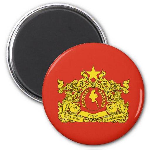 Sello del estado de Myanmar Imanes