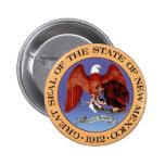 Sello del estado de New México Pin Redondo 5 Cm