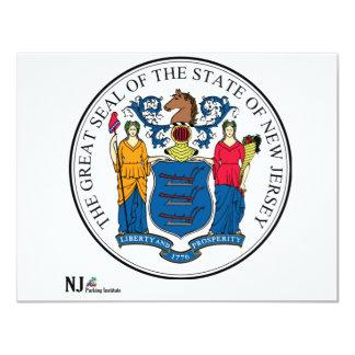 """Sello del estado de NJPI New Jersey Invitación 4.25"""" X 5.5"""""""