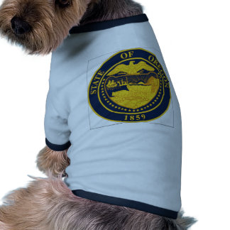 Sello del estado de Oregon Camisetas De Mascota
