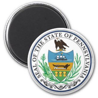 Sello del estado de Pennsylvania Imán Redondo 5 Cm