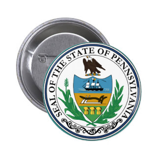 Sello del estado de Pennsylvania Pin Redondo 5 Cm