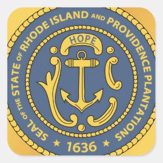 Sello del estado de Rhode Island Pegatina Cuadrada